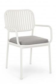 Krzesło z podłokietnikami RODRIGO - biały