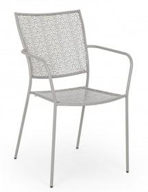 Krzesło do ogrodu WENDY - jasnoszary