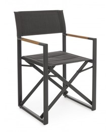 Krzesło reżyserskie LAGUN - antracyt