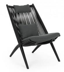 Krzesło ogrodowe ALOHA - czarny