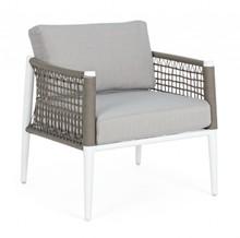 Fotel ogrodowy CALYPSO - biały