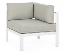 Fotel narożny MARINEL - biały