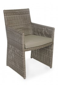 Krzesło ogrodowe ABIGAIL - brązowy
