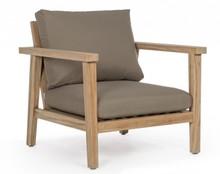 Fotel ogrodowy XIMENA - brązowy