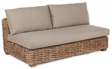 Sofa ogrodowa OLIVENZA - brązowy