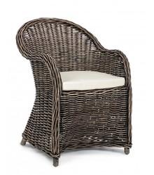 Fotel ogrodowy MARTIN - brązowy