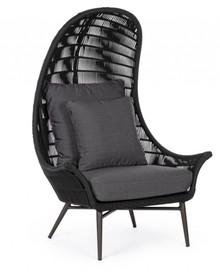 Fotel ogrodowy TABLITA - czarny