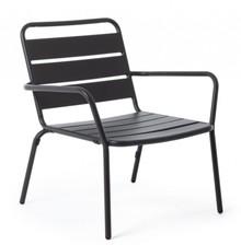 Fotel ogrodowy MARLYN - czarny
