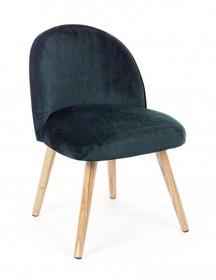 Krzesło ADELINE JUNGLE - ciemny zielony