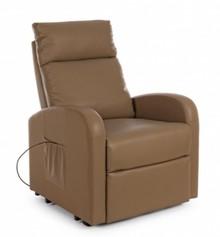 Fotel elektryczny LIFT TOBACCO - brązowy