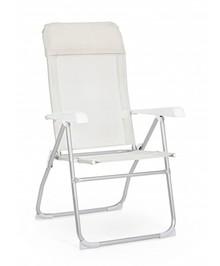 Krzesło rozkładane CROSS WHITE