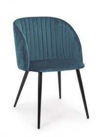 Krzesło QUEEN - niebieski