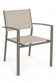 Krzesło z podłokietnikami HILDE TAUPE