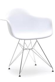 Krzesło z tworzywa MPA ROD - biały/metal