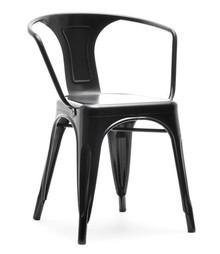 Krzesło z podłokietnikami ALFREDO 2 - czarny perłowy