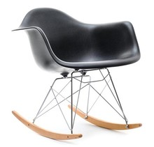 Fotel bujany MPA ROC - czarny/buk