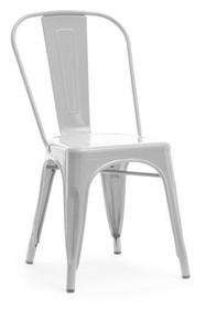 Krzesło industrialne ALFREDO 1 - szary perłowy