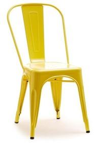 Krzesło industrialne ALFREDO 1 - żółty