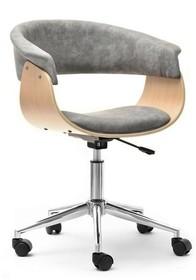 Fotel biurowy MANZA - szary/dąb