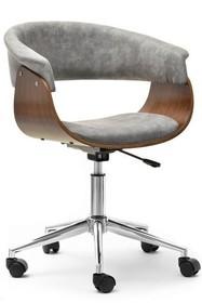 Fotel biurowy MANZA - szary/orzech