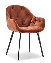Krzesło welurowe SABA - miedziany