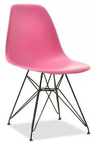 Krzesło z tworzywa MPC ROD - różowy/czarny