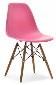 Krzesło ogrodowe MPC WOOD - różowy/orzech
