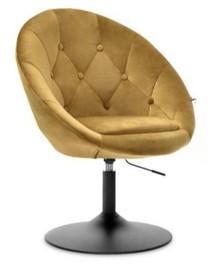 Fotel obrotowy velvet LOUNGE 3 - złoty/czarny