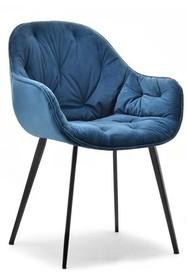 Krzesło welurowe SABA - granatowy