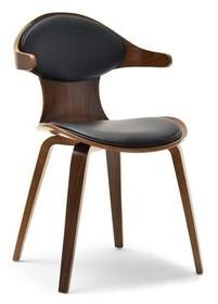 Krzesło z giętym oparciem RODEO - orzech/czarny