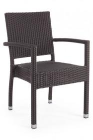 Krzesło z podłokietnikami ASTON - grafitowy
