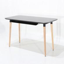 Biurko z wysuwaną półką LARA - czarny