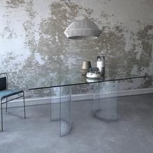 Stół na szklanych nogach OTTO