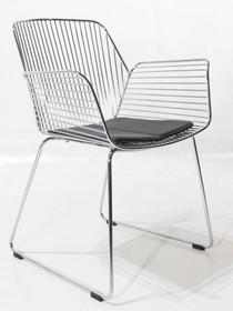 Metalowe krzesło z podłokietnikami REN