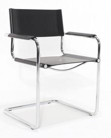 Krzesło skórzane z podłokietnikami STEM