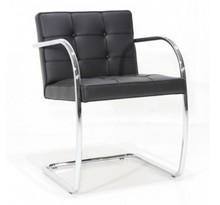 Krzesło z podłokietnikami BALIS - skóra