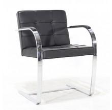 Krzesło skórzane z podłokietnikami BEN S