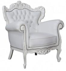 Fotel z rzeźbionym oparciem COBARO