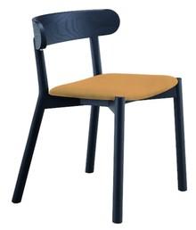 Montera krzesło tapicerowane skórą