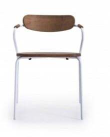 Drewniane krzesło linea/e do jadalni, kuchni, restauracji