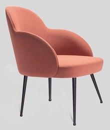 Elegancki fotel giulia/m z metalową podstawą do jadalni I salonu
