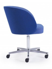 Stylowy fotel kyoto/r z podstawą na kółkach do biura, gabinetu