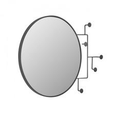 Lustro okrągłe z wieszakami NELAVIA 70x51