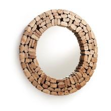Drewniane lustro ozdobne LIPSEL