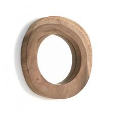 Lustro okrągłe BALK - drewno tekowe