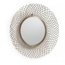 Metalowe lustro dekoracyjne ICEJU - mosiądz