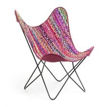 Fotel do salonu z siedziskiem z tkaniny NYLF