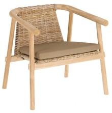 Fotel do salonu z drewna IRAYA