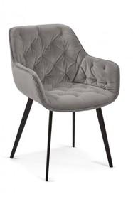 Krzesło tapicerowane DERMUL - szary