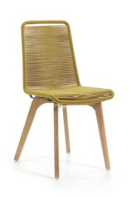 Krzesło drewniane RAVANA - zółty